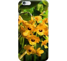 Tropical Impressions - Bright Yellow Orchid Smileys  iPhone Case/Skin