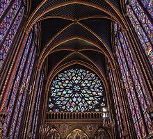 France. Paris. Sainte-Chapelle. The Upper Chapel. by vadim19