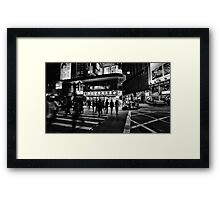 Mong Kok, Kowloon street crossing Framed Print
