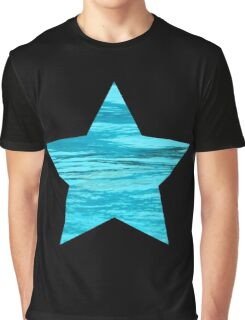Aqua Water Star Graphic T-Shirt