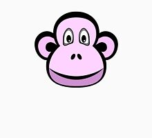 Pink Monkey on White Unisex T-Shirt