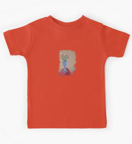 Flowers in the Triangular Pot  Kids Tee
