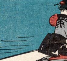 Fukeiga 11 - Hiroshige Ando - 1858 - woodcut Sticker