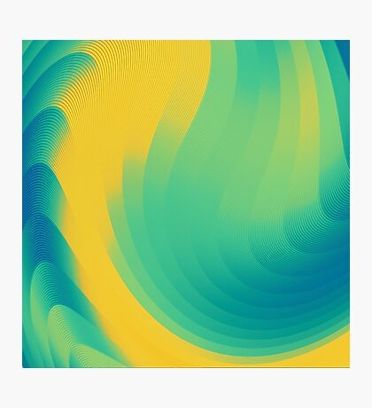 cool abstract design yellow Photographic Print