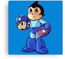 Mega Man Unmasked Canvas Print