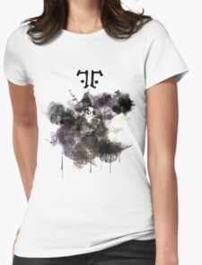 Watchmen- Rorschach Watercolor Portrait Womens Fitted T-Shirt