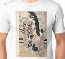 Fukubiki - Utamaro Kitagawa - c1801 - woodcut Unisex T-Shirt
