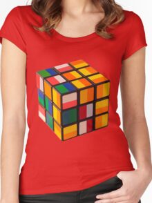 Cube toy Women's Fitted Scoop T-Shirt