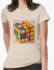 Cube puzzle Womens Fitted T-Shirt