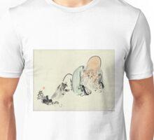 Fukurokuju - Zeshin Shibata - 1880 - woodcut Unisex T-Shirt