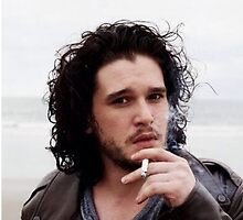 Kit Harrington- smoking on the beach by NesLove1D1309