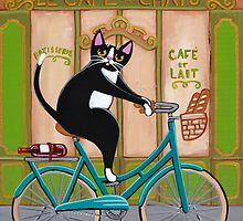 Bicycle Bread Run Cat  by Ryan Conners