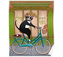 Bicycle Bread Run Cat  Poster