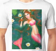 beautiful Fantasy mermaid with lilies Unisex T-Shirt