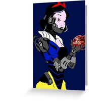 Mecha White - Poster Print Greeting Card