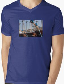 Gulets Lining The Harbour Infront of Marmaris Castle Mens V-Neck T-Shirt