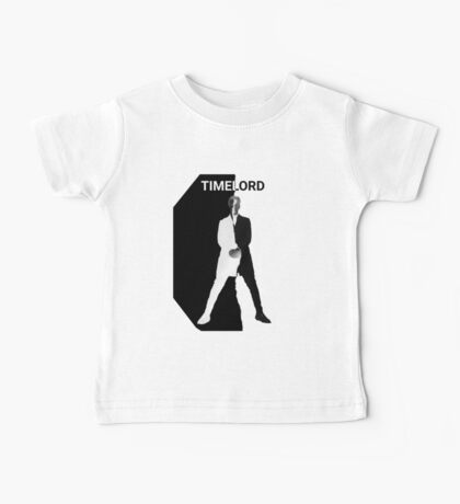 Abstract Black and White Timelord Art Baby Tee