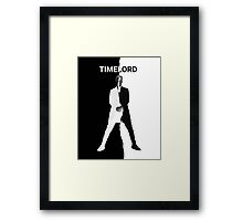 Abstract Black and White Timelord Art Framed Print