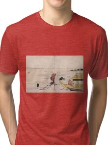 Gathering Clams - anon - c1810 - woodcut Tri-blend T-Shirt