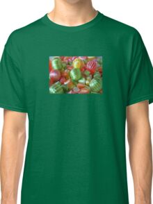 Multi-Colored Striped Candy Classic T-Shirt