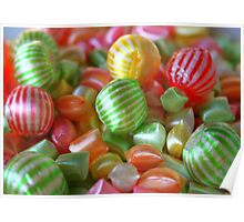 Multi-Colored Striped Candy Poster
