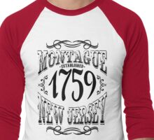 Montague New Jersey Men's Baseball ¾ T-Shirt