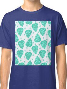 Monstera // house plant mint white botanical andrea lauren  Classic T-Shirt