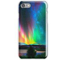 rainbow Aurora Borealis art2 iPhone Case/Skin