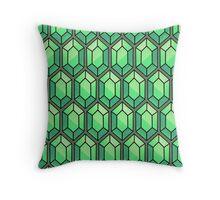 Legend Of Zelda Rupee Design [Green] Throw Pillow