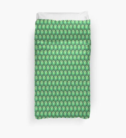 Legend Of Zelda Rupee Design [Green] Duvet Cover