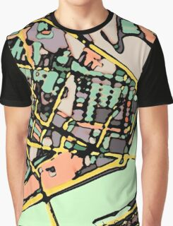 Abstract Map of Cambridge (MA) Graphic T-Shirt