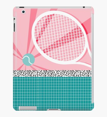 Boo Ya - slam dunk full court tennis racquet action sports athlete game on pop art neon  iPad Case/Skin