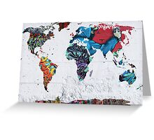map of the world Greeting Card