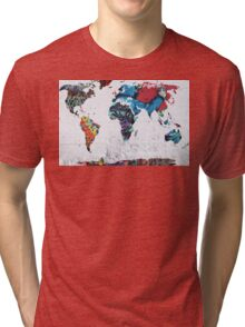map of the world Tri-blend T-Shirt