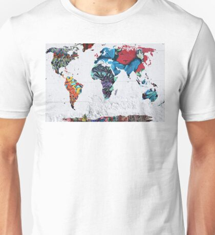 map of the world Unisex T-Shirt