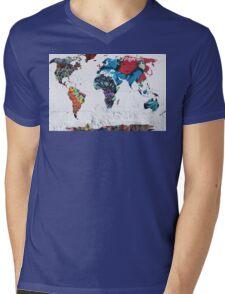 map of the world Mens V-Neck T-Shirt