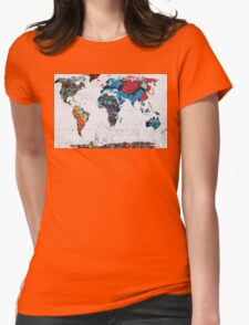 map of the world Womens Fitted T-Shirt