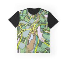 Abstract Map of Brookline Village Graphic T-Shirt