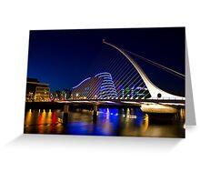 Dublin, Samuel Beckett Bridge Greeting Card