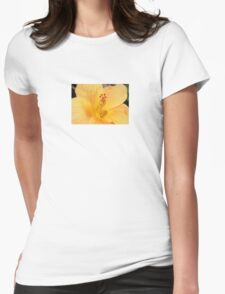 Golden Hibiscus Womens Fitted T-Shirt