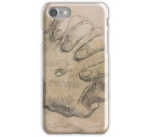 Italian School 17th century Study of Clasped Hands, Probably for St. Francis of Assissi, and Other Indications iPhone Case/Skin