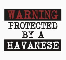 Warning Protected By A Havanese One Piece - Long Sleeve