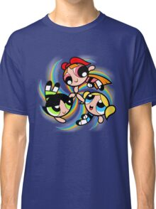 Power Puff Girls in Action Classic T-Shirt