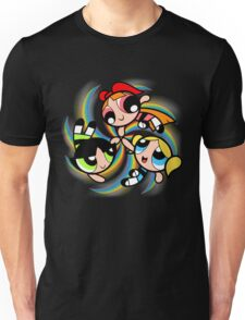 Power Puff Girls in Action Unisex T-Shirt