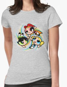 Power Puff Girls in Action Womens Fitted T-Shirt
