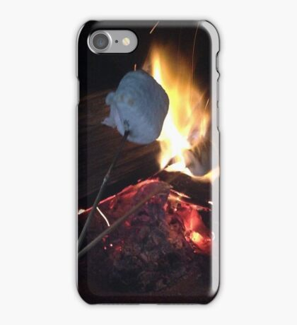fire and marshmellows iPhone Case/Skin