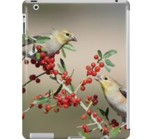Goldfinches in Yaupon Holly Tree iPad Case/Skin