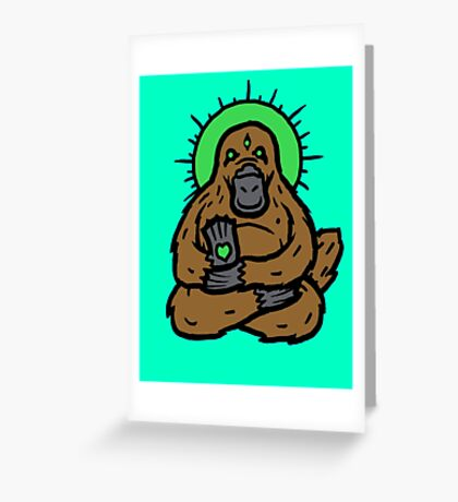 Spirit Platypus Greeting Card