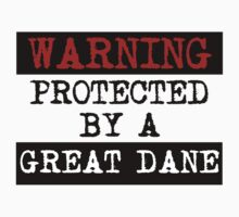 Warning Protected By A Great Dane One Piece - Short Sleeve