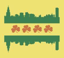 Irish Chicago Flag Skyline Baby Tee